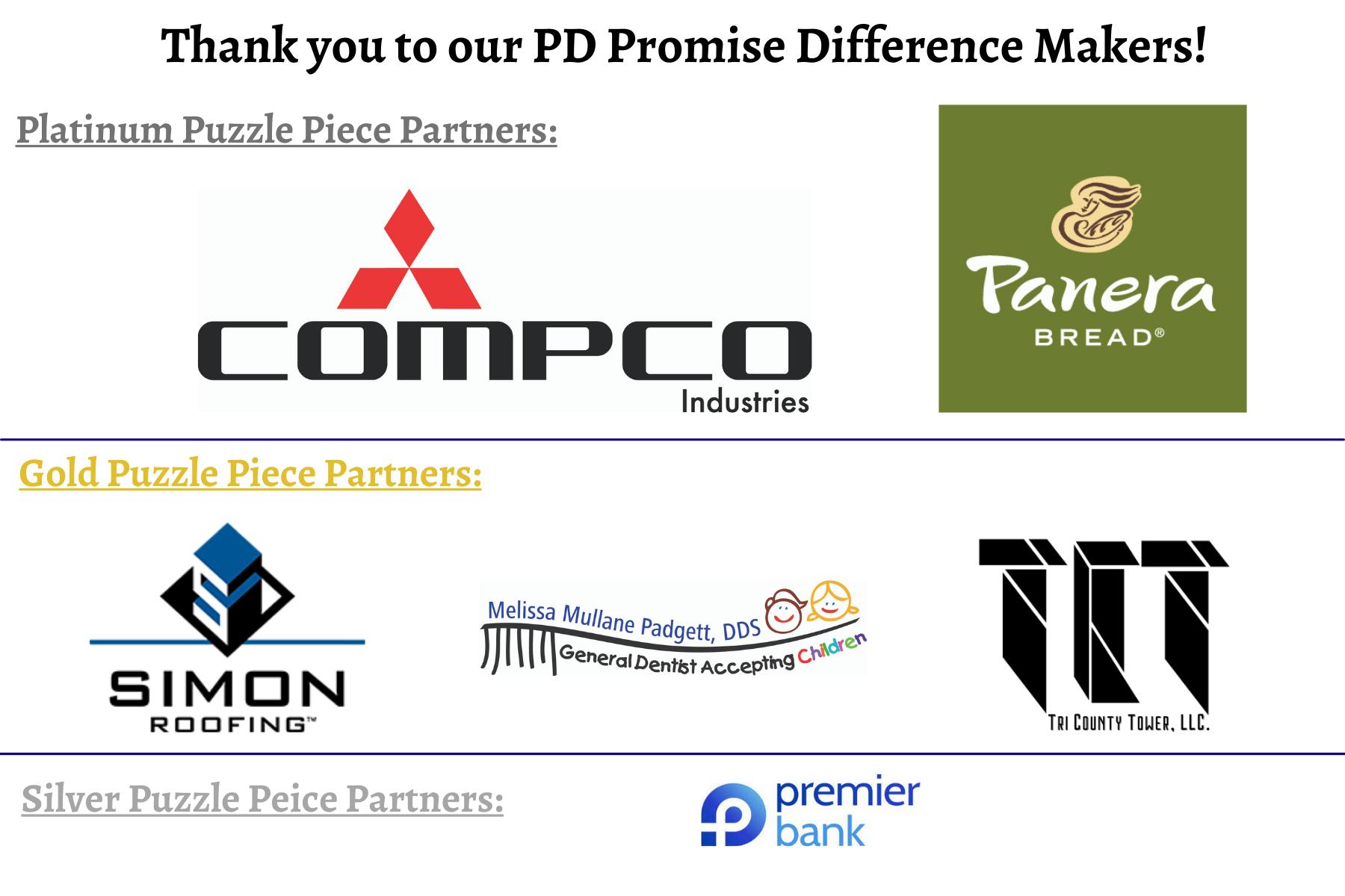 July PD Promise Sponsors