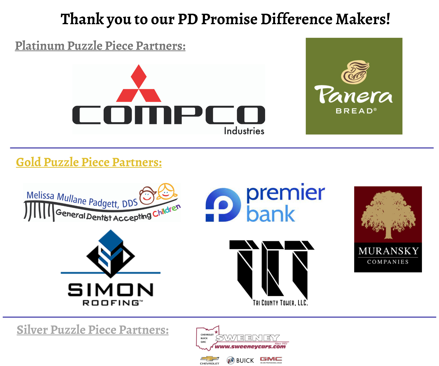 2021 PD Promise Sponsors August 9